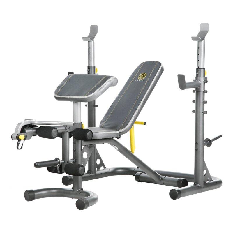 Banco Supino Com Suporte 140kg Xrs20 Golds Gym
