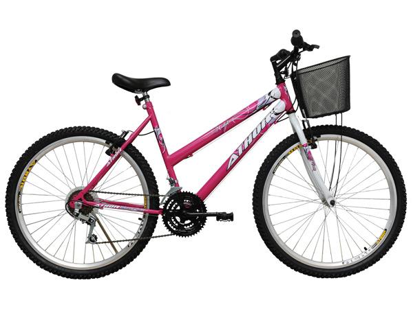 Bicicleta Athor Bike Model Aro 26 Rígida 18 Marchas - Rosa