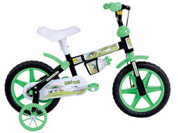 Bicicleta Houston Mini Boy Aro 12 Rígida 1 Marcha - Preto/verde