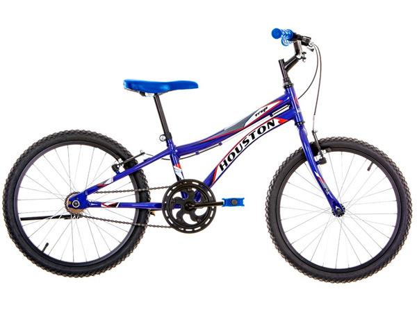 Bicicleta Houston Trup Aro 20 Rígida 1 Marcha - Azul