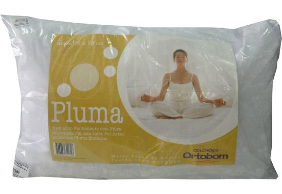 Travesseiro Ortobom Pluma Percal 100% Fibra Siliconizada 50 X 70cm