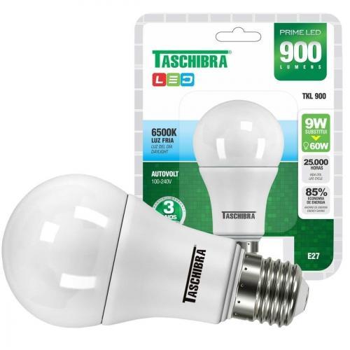 Lâmpada Taschibra Prime Led Tkl900 9w 6500k Bivolt - 7897079065589