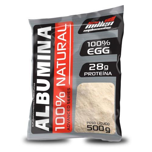 Albumina 100% Natural 500g - Refil New Millen