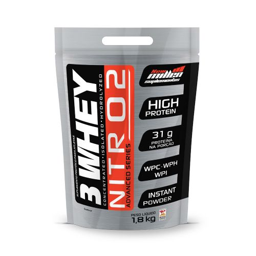 Whey 3w Nitro2 1,8kg Baunilha - Refil New Millen
