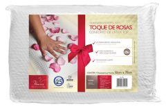 Travesseiro Fibrasca Toque de Rosas Lavavel 100% Poliester 100% Fibra de Poliester Siliconizada 68x48cm