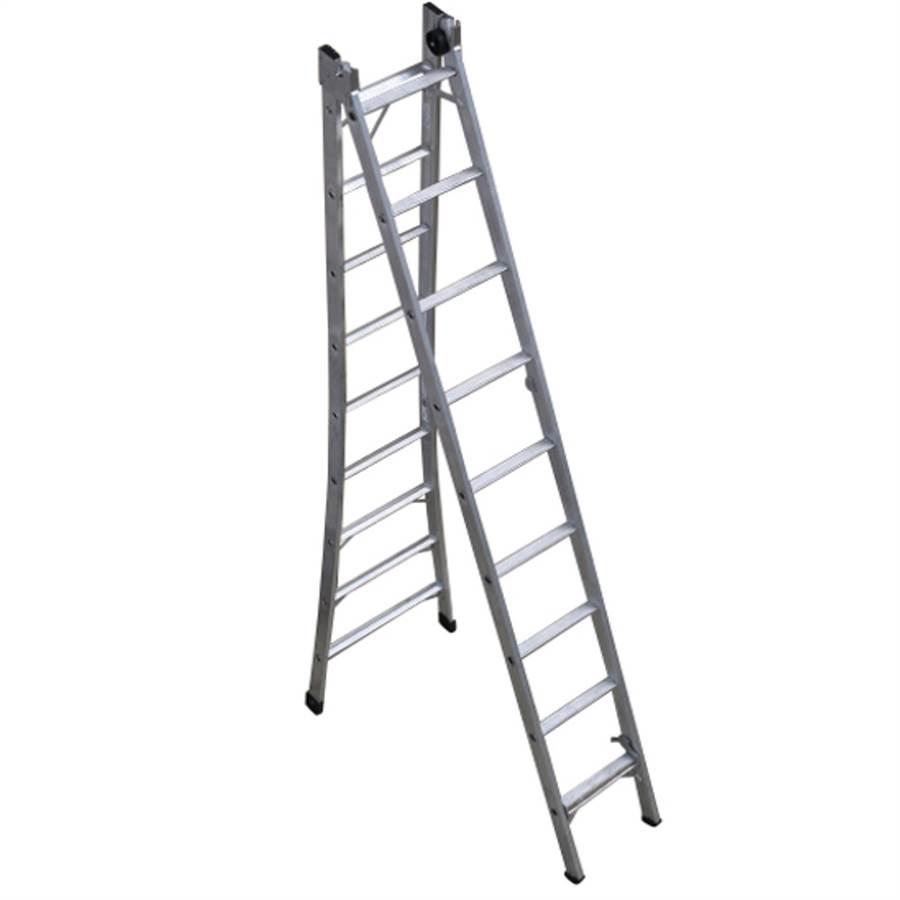 Escada de Alumínio Extensível 9 Degraus P009 Alustep