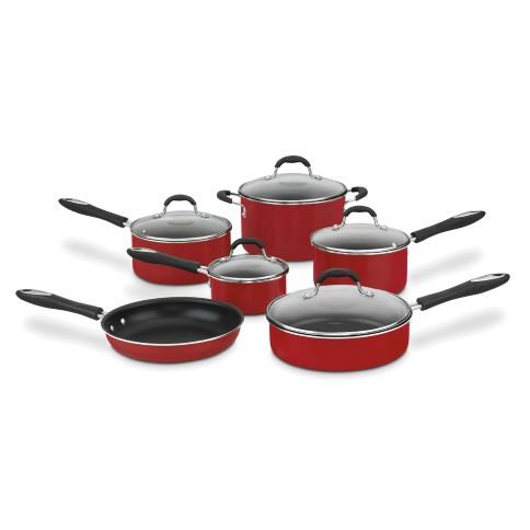 Conjunto de Panela Alumínio Advantage 7 Peças Vermelho Cuisinart
