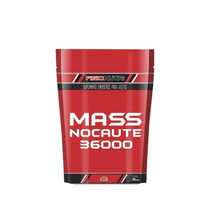 Mass Nocaute 36000 3kg Chocolate - Refil Fisionutri
