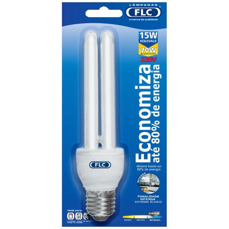Lâmpada Flc Fluorescente 2u 15w 6400k 127v - 01060015