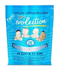 Lenço Umedecido 450 Unidades Dry Evolution
