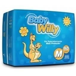 Fralda Hipertamanho M - 90 Unidades Baby Willy