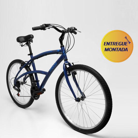 Bicicleta Mood Confort 100 T18 Aro 26 Rígida 21 Marchas - Azul