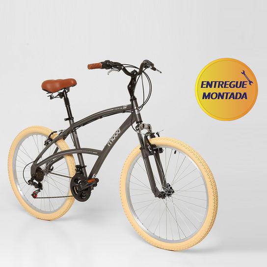 Bicicleta Mood Confort 500 T18 Aro 26 Susp. Dianteira 21 Marchas - Grafite