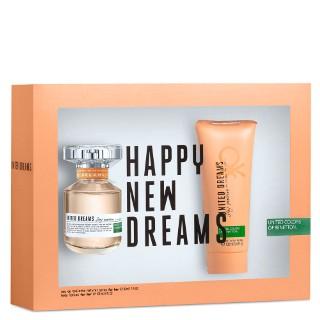 Estojo United Dreams Stay Positive Benetton Eau de Toilette Feminino 80 Ml