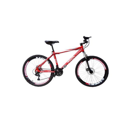 Bicicleta Mazza Fire 112 Tz Disc T17 Aro 26 Susp. Dianteira 24 Marchas - Vermelho