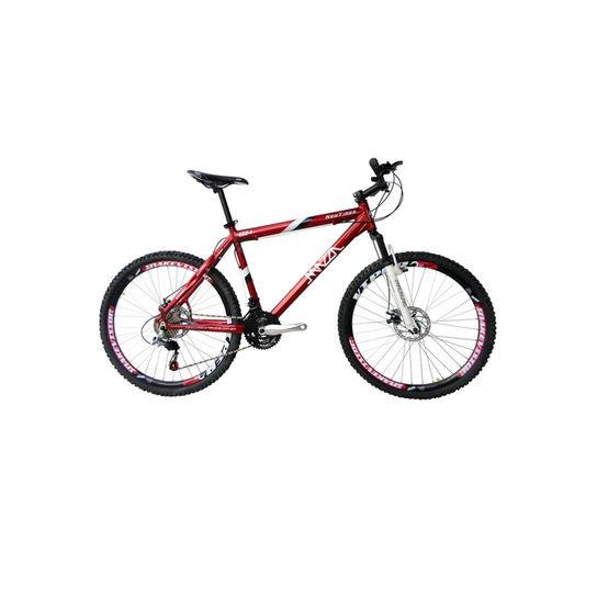 Bicicleta Mazza New Times Disc M T21 Aro 26 Susp. Dianteira 24 Marchas - Vermelho