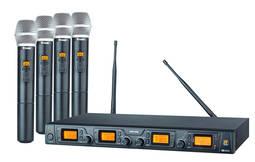 Kit Sistema C/ 4 Microfones Sem Fio Srw48q Staner