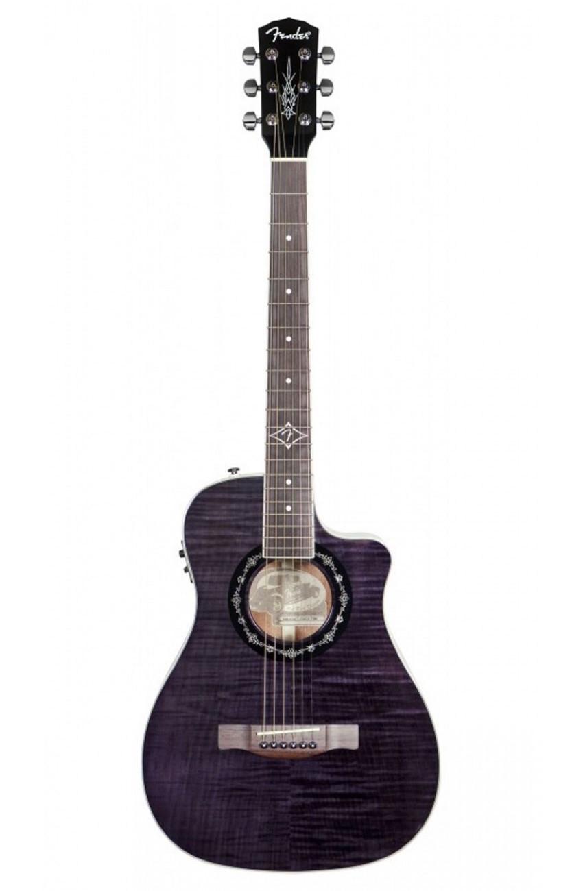 Violão Eletroacústico T Bucket 200 6 Cordas Aço Preto Fender - Afinador