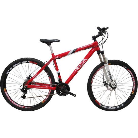 Bicicleta Mazza New Times Disc M T21 Aro 29 Susp. Dianteira 24 Marchas - Vermelho
