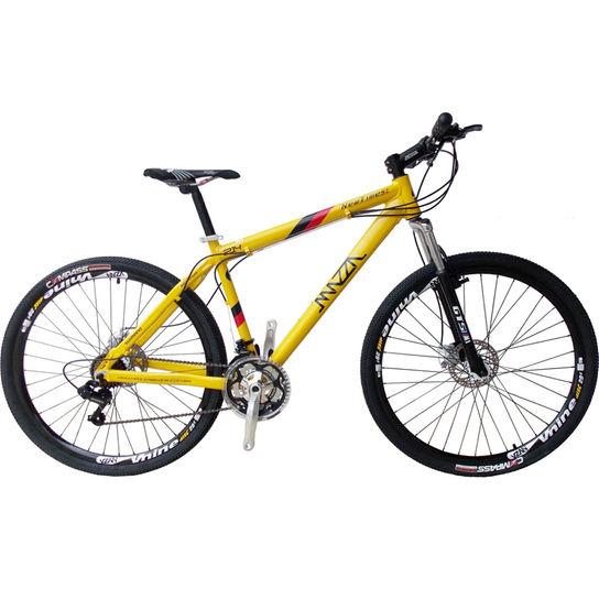 Bicicleta Mazza New Times Disc M T17 Aro 29 Susp. Dianteira 24 Marchas - Amarelo