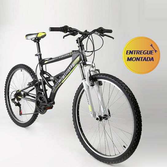 Bicicleta Gonew Endorphine 5.7 T18,5 Aro 26 Full Suspensão 21 Marchas - Prata/preto