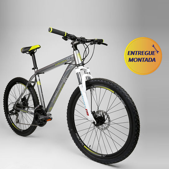 Bicicleta Gonew Endorphine 6.1 T21 Aro 26 Susp. Dianteira 21 Marchas - Amarelo/prata