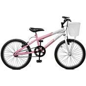 Bicicleta Master Bike Serena Aro 20 Rígida 1 Marcha - Branco/rosa