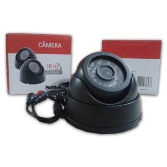 Câmera Multitoc Analog Int Ir10 Dome 420l Ccd 1/4 3,6mm Preta - Muc0200