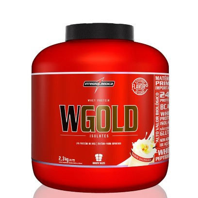 Wgold Whey Isolate 2,3kg Morango Integralmedica