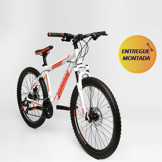 Bicicleta Gonew Endorphine 6.1 T19 Aro 26 Susp. Dianteira 24 Marchas - Branco/laranja