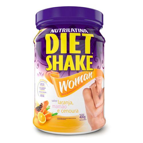 Nutrilatina Diet Shake Woman 400g Laranja C/ Mamão e Cenoura