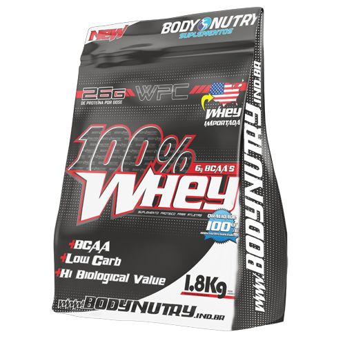 100% Whey 1,8kg Chocolate - Refil Body Nutry