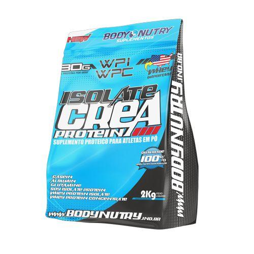 Whey Isolate Crea Protein 2kg Morango Com Banana - Refil Body Nutry