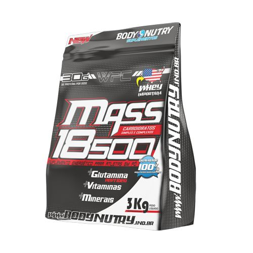 Mass 18500 3kg Morango Com Banana - Refil Body Nutry