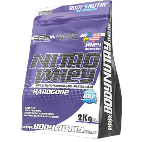 Nitro Whey Hardcore 2kg Baunilha - Refil Body Nutry