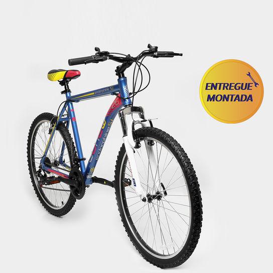 Bicicleta Gonew Endorphine 5.1 T21 Aro 26 Susp. Dianteira 21 Marchas - Azul/vermelho