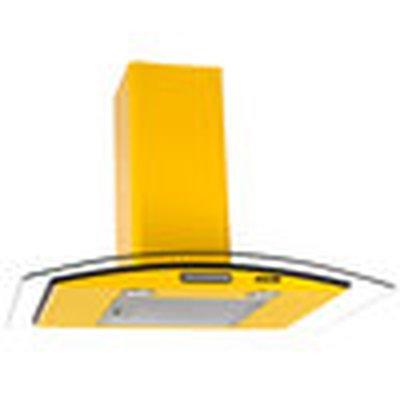 Coifa de Parede Nardelli 75 Cm Amarelo - 110v - Com Vidro - Cvc75