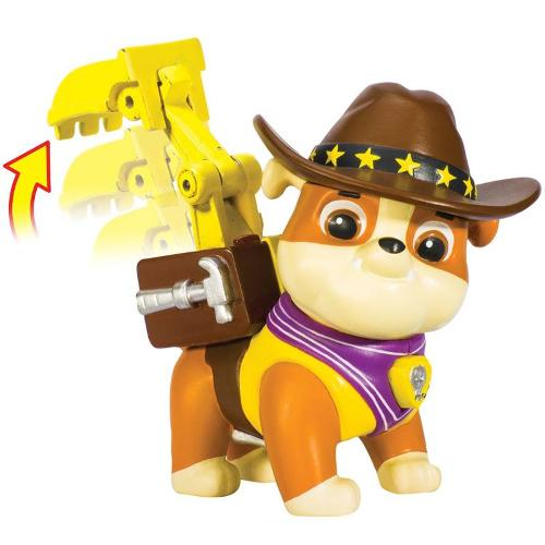 Boneco Rubble Cowboy Com Mecanismo Patrulha Canina Sunny Brinquedos