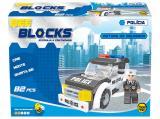 Boneco e Viatura do Delegado 82 Peças Bee Blocks Bee Me Toys