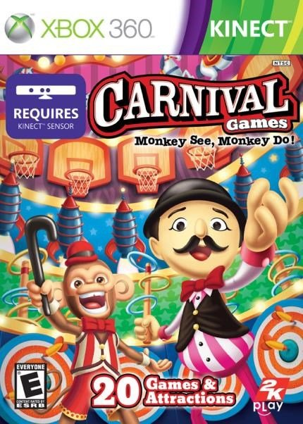 Jogo Carnival Games: Monkey See, Monkey do - Xbox 360 - 2k Games