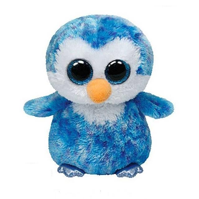 Pelúcia Beanie Boos Pinguim Azul Ice Cube Dtc