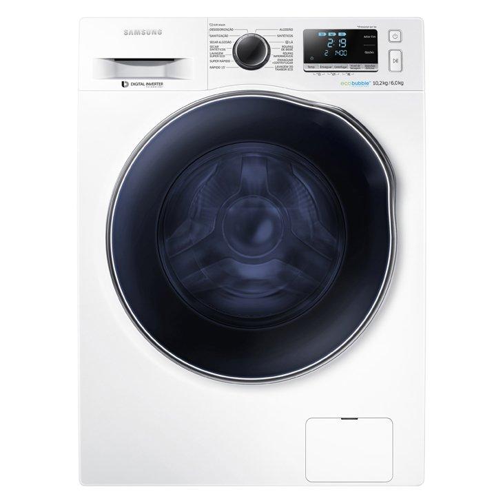 Lavadora de Roupa Lava & Seca 10,2 Kg Frontal Branco Samsung - 110v - Wd10j6410aw/az