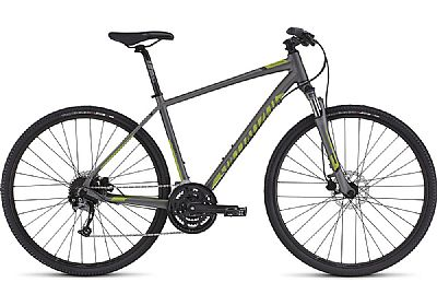 Bicicleta Specialized Crosstrail Sport Tm Aro 700 Susp. Dianteira 27 Marchas - Cinza