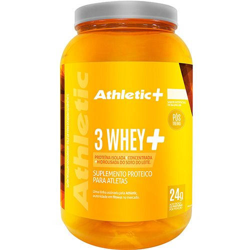 3 Whey+ 960g Baunilha Athletic