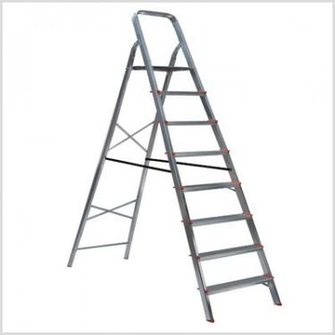 Escada de Alumínio Doméstica 8 Degraus Esc067 Botafogo