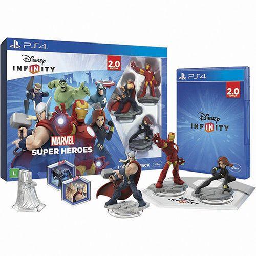Jogo Disney Infinity 2: Kit Inicial Marvel - Playstation 4 - Disney Interactive