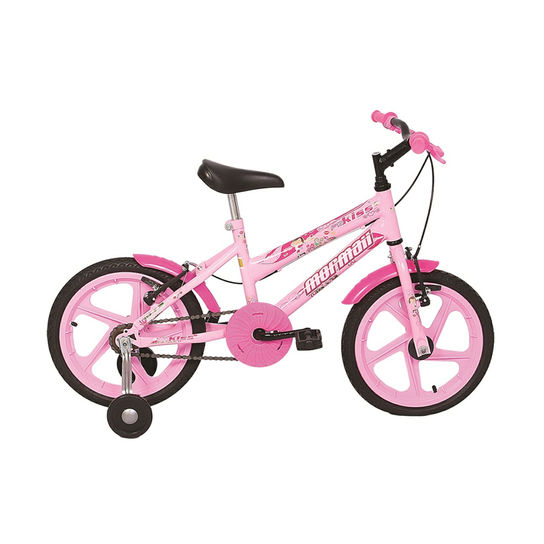 Bicicleta Mormaii Kiss Aro 24 Rígida 18 Marchas - Rosa