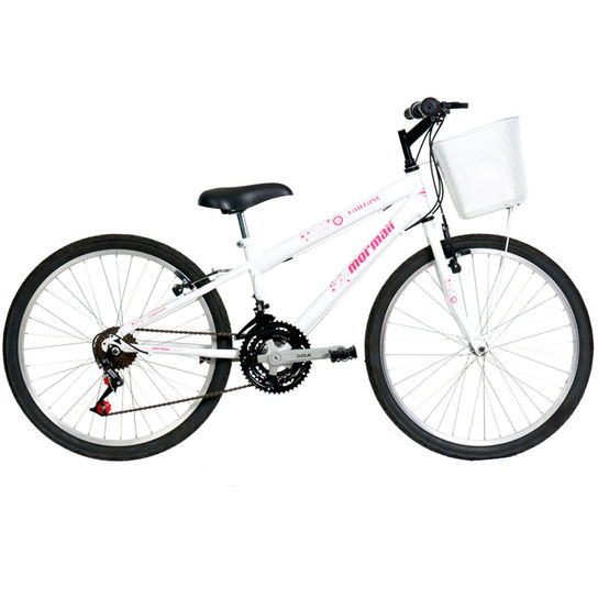 Bicicleta Mormaii Fantasy Aro 24 Rígida 21 Marchas - Branco