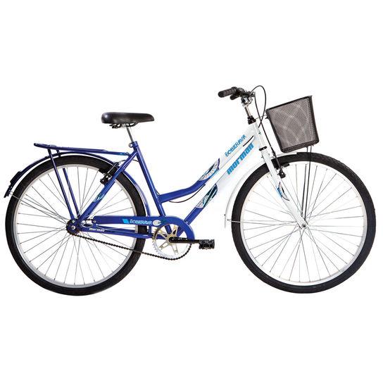 Bicicleta Mormaii Soberana Aro 26 Rígida 1 Marcha - Azul/branco