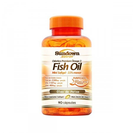 Sundown Naturals Ômega 3 Fish Oil 90 Softgels